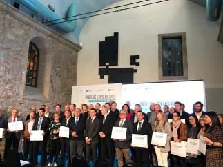 Foto de familia de Feijóo y los ayuntamientos emprendedores