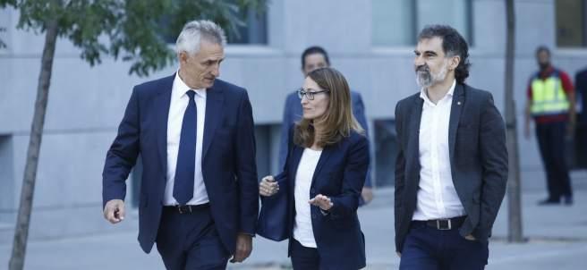 Jordi Cuixart llega a la Audiencia Nacional.