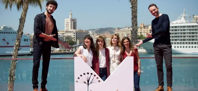 El equipo de la película 'Las distancias'