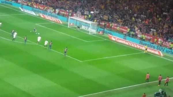 Coutinho marca el 0-5 para el Barcelona en la Copa del Rey