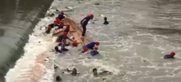 Fotograma de la tragedia captado por una televisión china