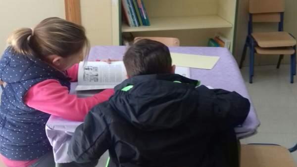 Punto de lectura infantil en el centro de salud de Cúllar Vega