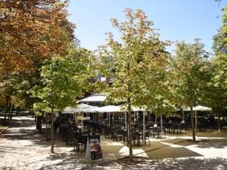 Terraza, verano, vacaciones, Retiro, Madrid, calor