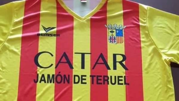 La polémica camiseta de la empresa de embutidos turolense 'La Manolica'.