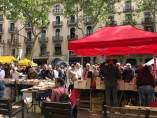 Sant Jordi en la Rambla de Barcelona.