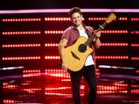 Oskar Proy durante su audición en 'The Voice'.