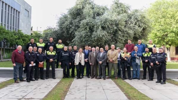 Sesión de trabajo en la Diputación