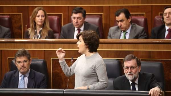 Santamaría en la sesión de control al Gobierno en el Congreso