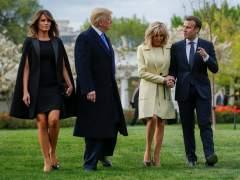 Macron llega a EE UU en una visita marcada por la tensión comercial e Irán