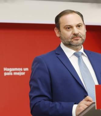 El secretario de Organización del PSOE, José Luis Ábalos, en Ferraz.