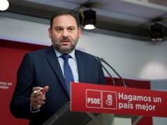 José Luis Ábalos, secretario de Organización del PSOE, este martes en Ferraz.