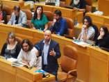 Grupo Parlamentario de En Marea durante una sesión de control al presidente