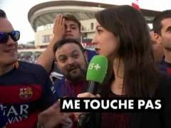 Periodista francesa en la Copa