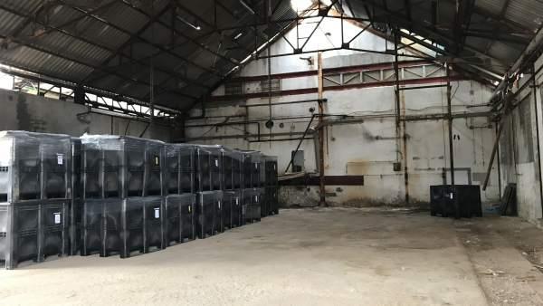 Estado actual de la fábrica de Inquinosa en Sabiñánigo (Huesca)