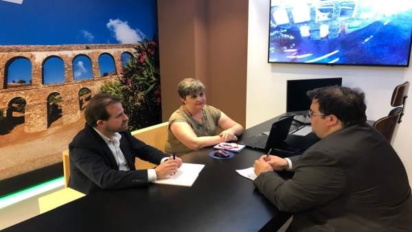 El concejal de Turismo de Almuñécar refuerza promoción en Madrid