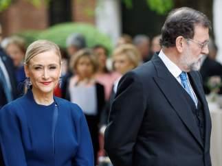 La expresidenta de la Comunidad de Madrid, Cristina Cifuentes, y el presidente del Gobierno, Mariano Rajoy.