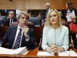 Cristina Cifuentes y Ángel Garrido en la Asamblea de Madrid