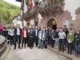 Mª José Beaumont con los asistentes al seminario del proyecto HeliNET