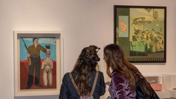 Obras incluidas en la exposición 'A contratiempo. Medio siglo de artistas valencianas (1929-1980)'