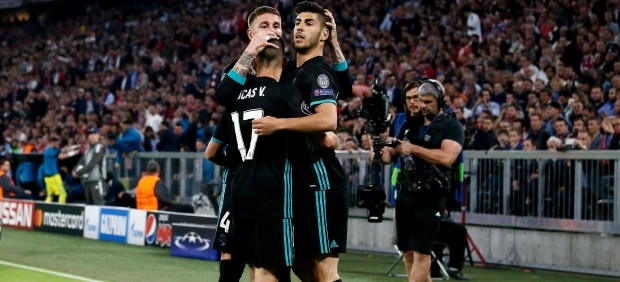 Ramos, con Lucas y Asensio