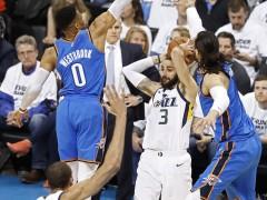 Westbrook responde a Ricky con 45 puntos y evita la eliminación de los Thunder