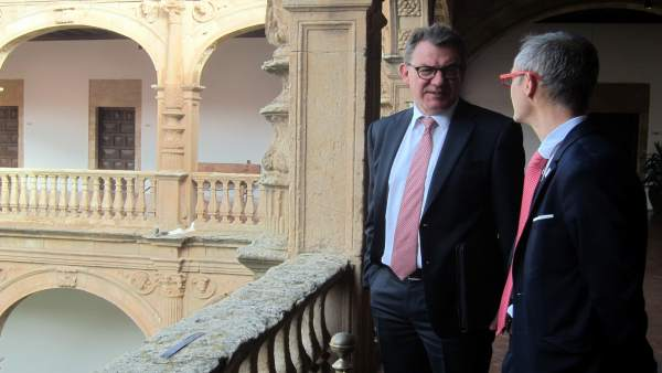 El embajador alemán con el rector. Salamanca, 26/04/2018