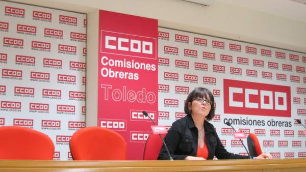 Castellanos (CCOO) en rueda de prensa