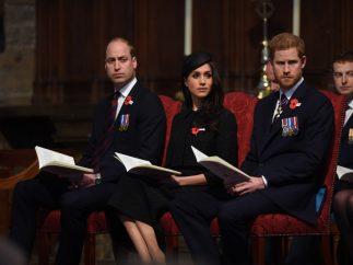 príncipe Guillermo de Inglaterra, Meghan Markle y el príncipe Harry