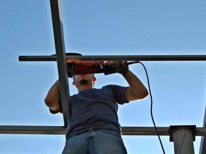 Un trabajador de la construcción