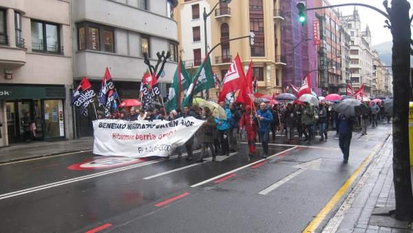 Manifestación Centros Educativos Privados País Vasco