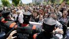 Protesta en Pamplona tras la sentencia de La Manada