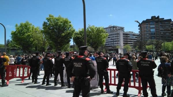 Palacio de Justicia de Pamplona, lectura del fallo a 'La Manada'.