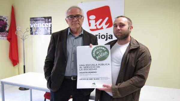 Moreno y Mendiola de IU en comparecencia de prensa