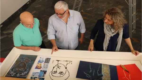 Algunas de las obras que formarán parte de la exposición 'Catulli Carmina. Odi'