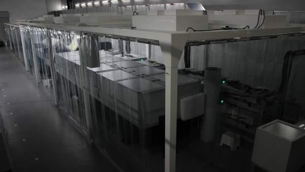 Láser de petavatio 'Vega-3' en el CLPU de Salamanca
