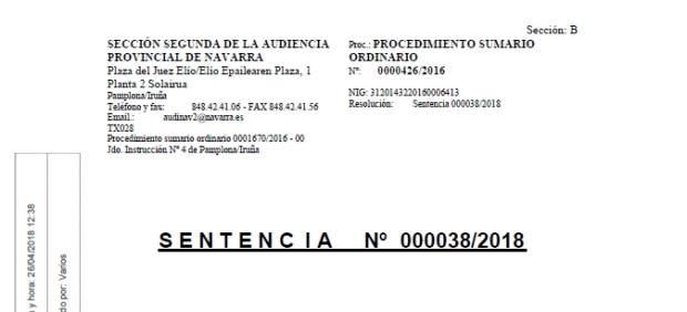 Sentencia del caso La Manada