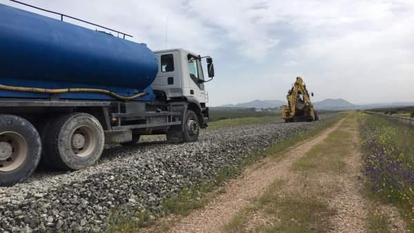 Obras en el ramal Linares-Vadollano