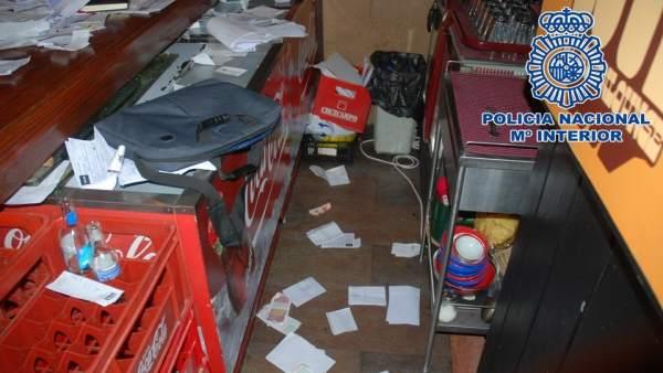 Objetos incautados tras varios robos en establecimientos comerciales