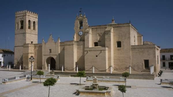 Plaza de Villalba del Alcor, en Huelva.