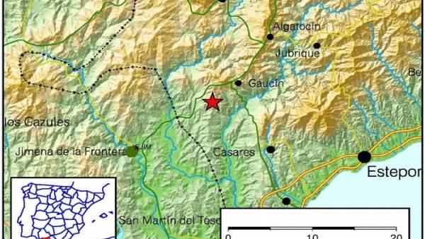 Terremoto noroeste Gaucín Málaga