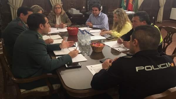 Reunión de la Junta Local de Seguridad de Porcuna.