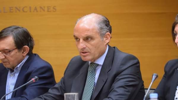 El 'expresident', en su intervención en Les Corts
