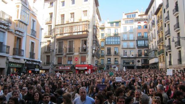 Concentración en Pamplona en rechazo a la sentecia a 'La Manada'