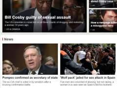 """Portada de la BBC en la que se observa la imagen de una de las protestas por la sentencia en nuestro país con el titular: """"Wolf pack"""" jailed por sex attack in Spain."""