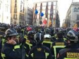 Manifestación de Bomberos de Barcelona.
