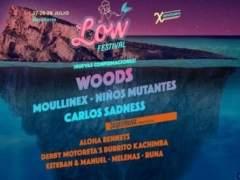 Cartel del Low Festival anunciando a los Woods