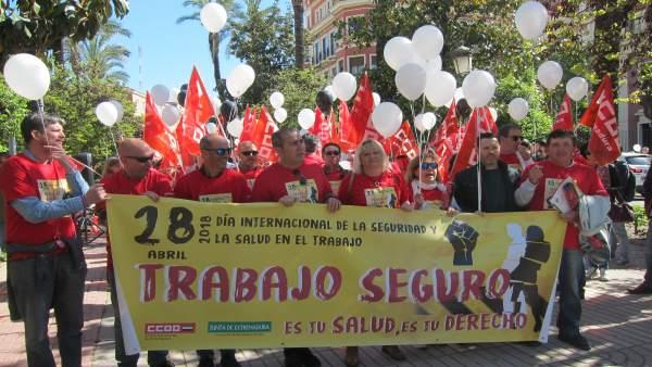 Concentración CCO en Badajoz