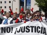 Concentración en Pamplona contra la sentencia de La Manada