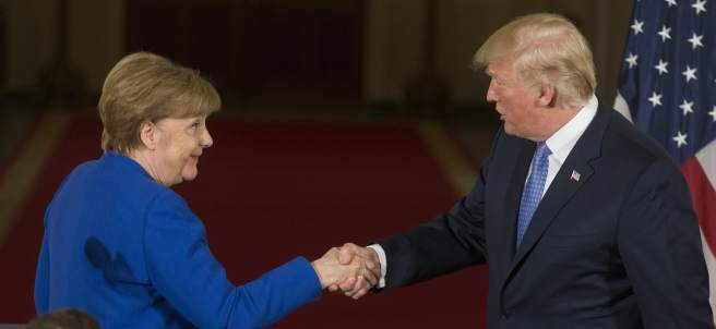 Merkel y Trump, en Washington