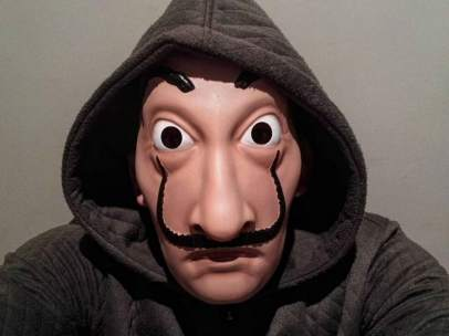 Máscara de la serie de televisión 'La Casa de Papel'